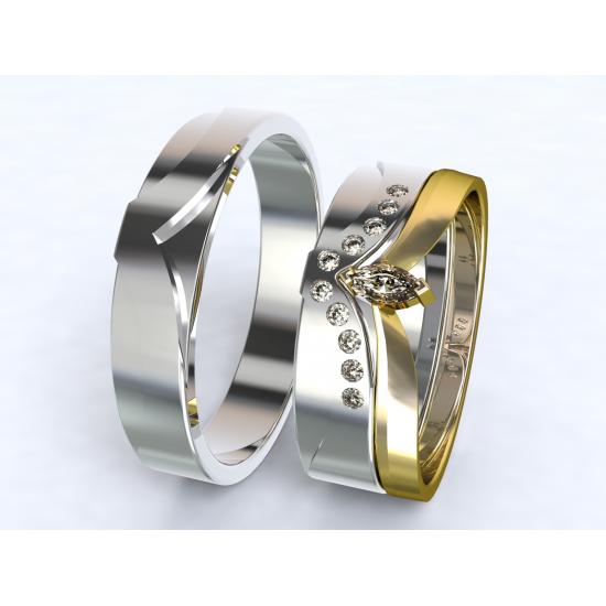 Stribrne Snubni Prsteny 3d Styl 3300501 Zlatnictvi A Hodinarstvi