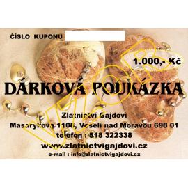DÁRKOVÁ POUKÁZKA 1000 Kč